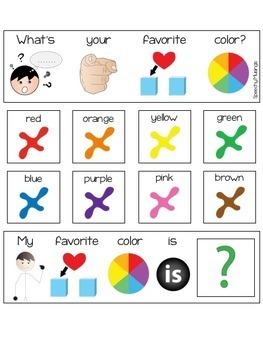 Interactive AAC Visuals for Commenting, Asking, and Answering Questions