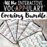 Interactive VocAPPulary™ - Vocabulary Activities Bundle (Growing)
