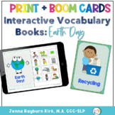 Interactive Vocab Book: Earth Day Print and Boom Cards™️