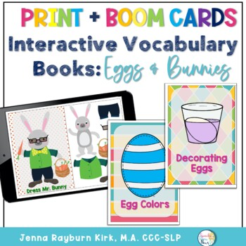 Interactive Vocab Book: Eggs and Bunnies