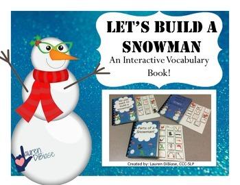 Interactive Vocabulary Book - Building a Snowman