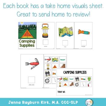 Interactive Vocabulary Book: Camping