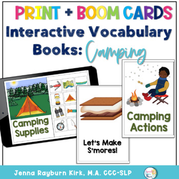 Interactive Vocabulary Book: Camping