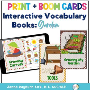 Interactive Vocabulary Book: Garden