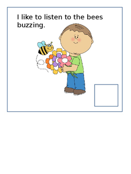 Interactive Vocabulary Book :  I Like Spring (for AAC, non-verbal, low verbal)