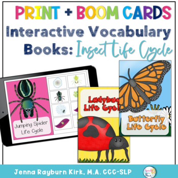 Interactive Vocabulary Book: Insect Life Cycles
