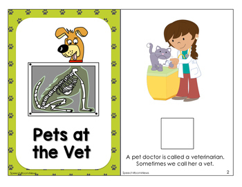 Interactive Vocabulary Book: Pets