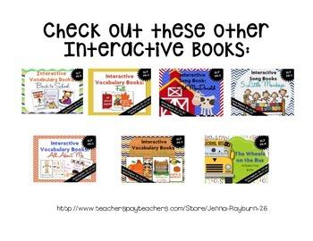 Interactive Vocabulary Book: Playground FREEBIE
