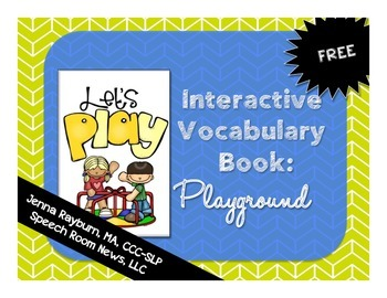 Interactive Vocabulary Book: Playground FREEBIE