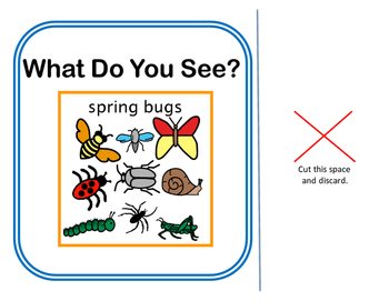 Interactive Vocabulary Book: Spring Bugs, What Do You See?
