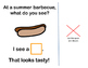 Interactive Vocabulary Book: Summer Barbecue, What Do You See?