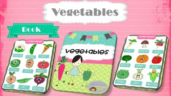 Interactive Vocabulary Book - Vegetables