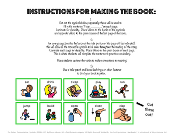 Interactive Vocabulary Book: What Can You Do? VERBS! Set 1