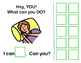 Interactive Vocabulary Book: What Can You Do? VERBS! Set 1