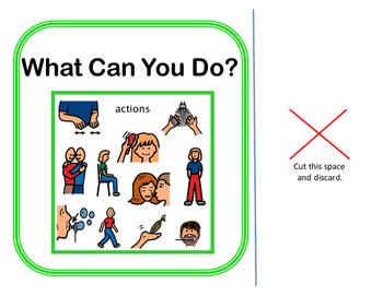 Interactive Vocabulary Book: What Can You Do? VERBS! Set 2