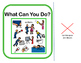 Interactive Vocabulary Book: What Can You Do? VERBS! Set 3