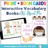 Interactive Vocabulary Books: All About Me Books Print & Boom Decks