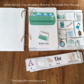 Interactive Vocabulary Books: Around the House