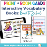 Interactive Vocabulary Books: Back to School Themed for Preschool