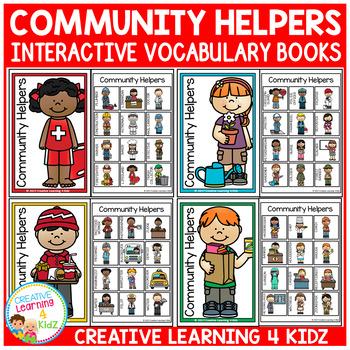 Interactive Vocabulary Books: Community Helpers 3