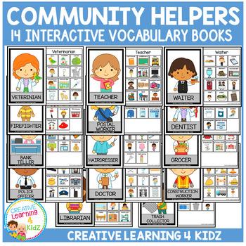 Interactive Vocabulary Books: Community Helpers