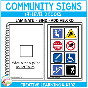 Interactive Vocabulary Books: Community Signs