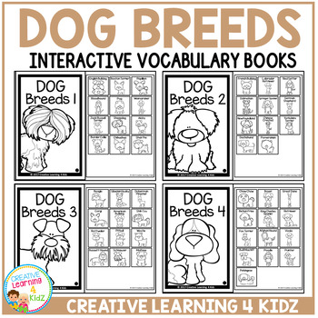Interactive Vocabulary Books: Dog Breeds