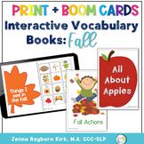 Interactive Vocabulary Books: Fall Theme