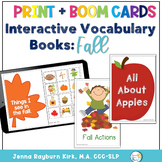 Interactive Vocabulary Books: Fall Theme Boom Decks + Print