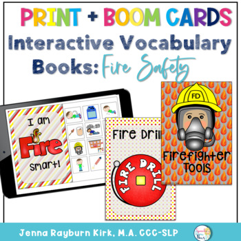 Interactive Vocabulary Books: Fire Safety