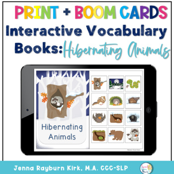 Interactive Vocabulary Books: Hibernating Animals