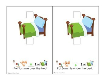 Interactive Vocabulary Books: Kitty Preposition Over, Under, In Front, Behind