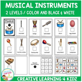 Interactive Vocabulary Books: Musical Instruments