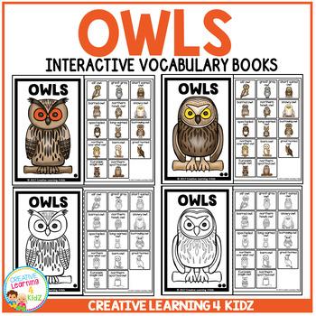 Interactive Vocabulary Books: Owls