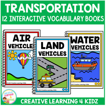 Interactive Vocabulary Books: Transportation