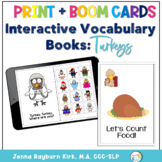 Interactive Vocabulary Books: Turkeys