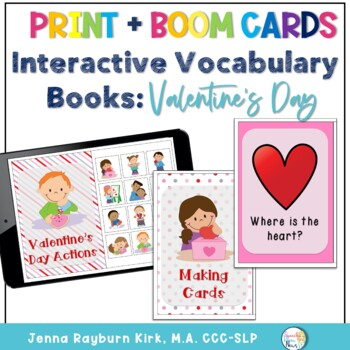 Interactive Vocabulary Books: Valentine's Day