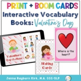Interactive Vocabulary Books: Valentine's Day Print with  Boom Cards™️