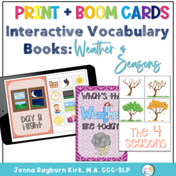 Interactive Vocabulary Books: Weather, Seasons, & More Books