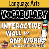 Interactive Vocabulary Bulletin Board