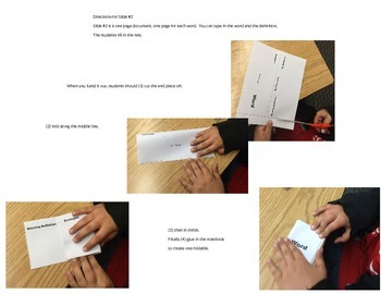 Interactive Vocabulary Card (Foldable)