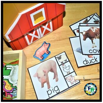 Interactive Vocabulary Cards for Preschool | Farm Animals
