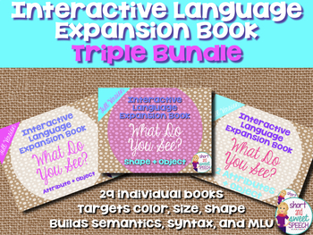 Interactive Vocabulary Expansion: TRIPLE BUNDLE #oct2018SLPMustHave