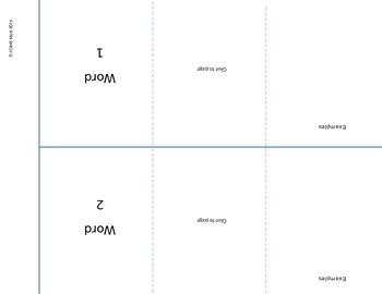 Marzano Interactive Vocabulary Foldable:  Can use with ANY vocabulary word