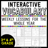 Vocabulary Lessons For the Whole Year | Distance Learning