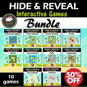 Interactive Hide & Reveal Games for  ESL, Primary Kids, Preschoolers ★BUNDLE★