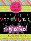 Interactive Vocabulary Notebook FREEBIE!