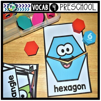 Interactive Vocabulary Puzzles for Preschool | Shapes
