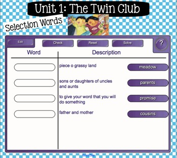 Interactive Vocabulary for SMARTBoards - Reading Street  - Unit One Grade 2