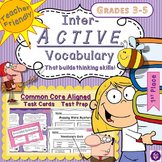 Interactive Vocabulary Task Cards with Quizzes and Printables